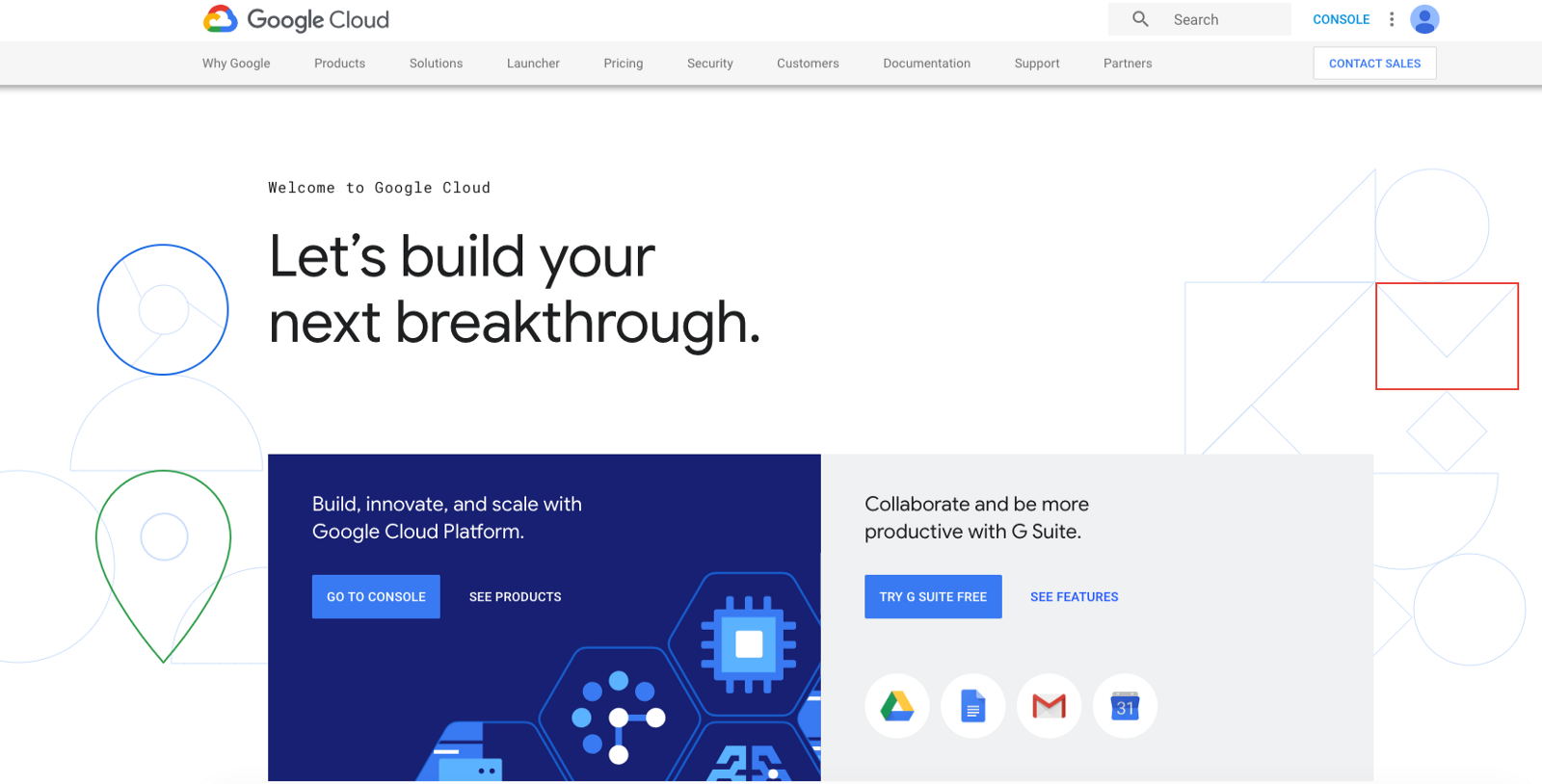 前往 Google Cloud Platform 首頁